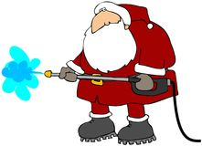 Cleaning Santa Royalty Free Stock Images