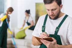 Cleaning schedule makes work much easier Stock Images