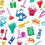 Cleaning Seamless Pattern Royalty Free Stock Image