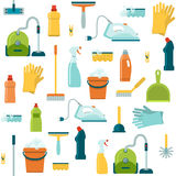 Cleaning Seamless Pattern Royalty Free Stock Images