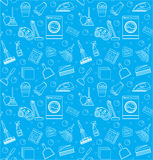 Cleaning seamless pattern.  endless background, texture, wallpaper. Vector illustration Royalty Free Stock Image