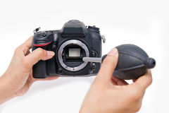 Cleaning sensor of camera Royalty Free Stock Image