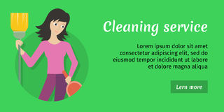Cleaning Service Ad Card, Banner, Poster, Fier Royalty Free Stock Images