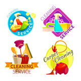 Cleaning Service Badge Set Royalty Free Stock Photos