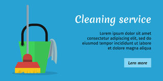 Cleaning Service Banner Royalty Free Stock Photography