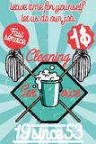 Cleaning service banner Royalty Free Stock Photo