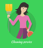 Cleaning Service Banner Stock Photos