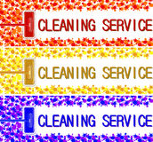 Cleaning service company banner. vector illustration 2 stock image