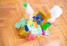Cleaning service concept Royalty Free Stock Photos