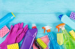 Cleaning service concept. stock images