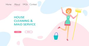Cleaning service concept stock images