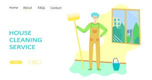 Cleaning service concept royalty free stock image