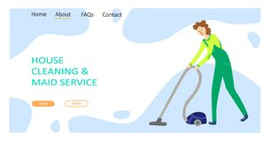 Cleaning service concept royalty free stock photography