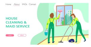 Cleaning service concept stock image