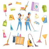 Cleaning Service Icons Set stock illustration