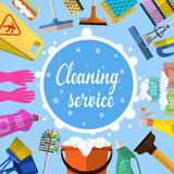 Cleaning Service Flat Illustration Stock Photo