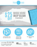 Cleaning service flyer template advertisement. Cleaning Service flyer template with discount coupons and advertisement vector illustration