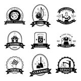 Cleaning Service Graphic Emblems Royalty Free Stock Image