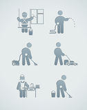 Cleaning service icon Royalty Free Stock Photography