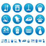 Cleaning service icons Royalty Free Stock Photo