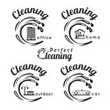 Cleaning service labels Stock Images