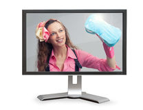 Cleaning service online concept Royalty Free Stock Images
