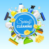 Cleaning Service Poster Stock Image