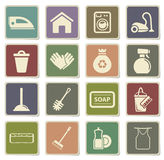 Cleaning service simply icons Stock Image