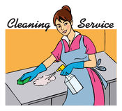 Cleaning service Stock Images