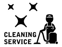 Cleaning service symbol Royalty Free Stock Photo