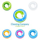 Cleaning Service vector Logo design, Eco Friendly Concept for Interior, Home and Building. Cleaning Service vector Logo design Stock Photography