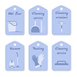 Cleaning service vector tags. Vector set of tags for cleaning service Royalty Free Stock Photography