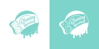 Free Cleaning Service Vector Vintage Logos Royalty Free Stock Photos - 52164068
