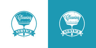 Cleaning Service Vector Vintage Logos Royalty Free Stock Photo