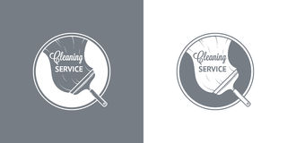 Cleaning Service Vector Vintage Logos Stock Photography