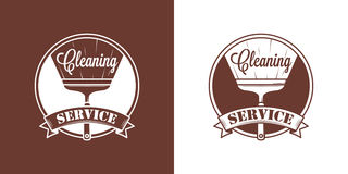 Cleaning Service Vector Vintage Logos Stock Images