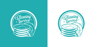 Cleaning Service Vector Vintage Logos Royalty Free Stock Images