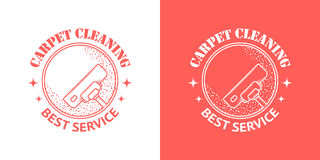 Cleaning Service Vector Vintage Logos Royalty Free Stock Photography
