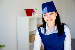 Cleaning service woman Stock Photography