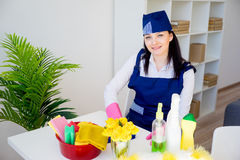 Cleaning service woman Royalty Free Stock Photo
