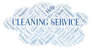 Cleaning Service word cloud vector illustration