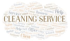 Cleaning Service word cloud royalty free illustration