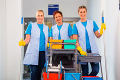 Cleaning service at work Royalty Free Stock Image