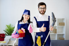 Cleaning service workers Stock Image