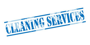 Cleaning services blue stamp Royalty Free Stock Photo