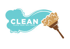 Cleaning services logotype with water and brush illustrations Stock Images
