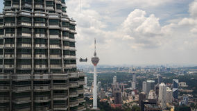 Cleaning services for Petronas Twin Towers Royalty Free Stock Photography
