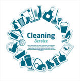 Cleaning services vector illustration. Stock Image