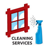 Cleaning services Royalty Free Stock Photography