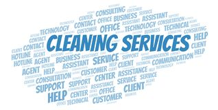 Cleaning Services word cloud. stock illustration